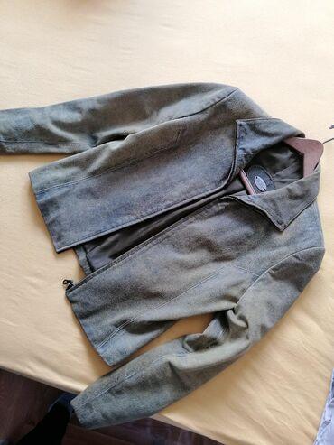 Kožna ženska strukirana MONA jakna.  Brusena koža.  Veličina 40, odgov