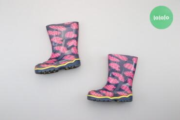 Дитячі резинові чоботи з серденьками Litma, р. 26    Довжина устілки