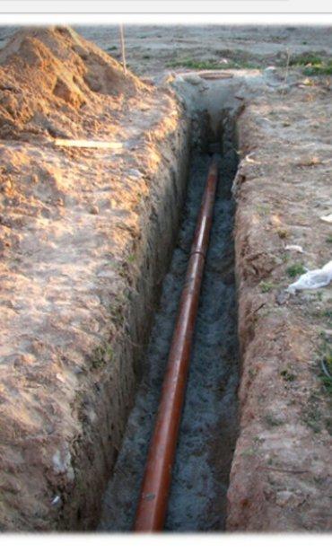 Прокладка  канализатсионных труб и в Бишкек