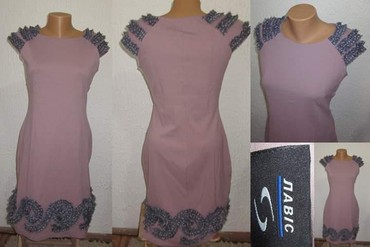Ljubicasta haljina sa lepim detaljima - Novi Sad