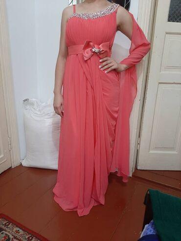 вечернее платье 48 50 размер в Кыргызстан: Вечерняя платья в греческом  Цвет розовый  Размер: подойдёт на 48-50
