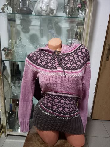 Ženska džemperi - Srbija: TIMEOUT Ski zimski džemper vel M 45%cotton 55% acrilic