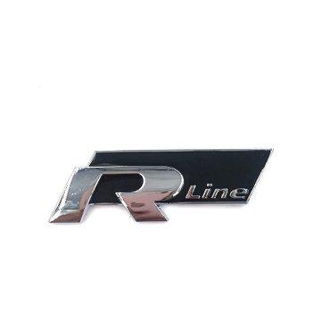 ������������������r���:za33������������������,������������������,������������������,��������������������� - Srbija: Volkswagen r-line samolepljivi znak crniCrna boja. Golf, Polo, Passat