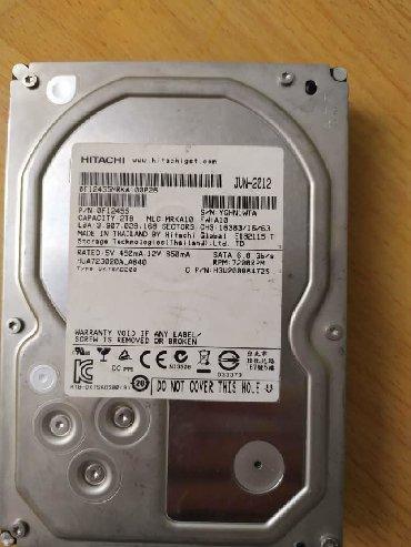жёсткие диски sata в Кыргызстан: Жесткий диск hitachi Объем 2Tb, Интерфейс Sata III Скорость передачи