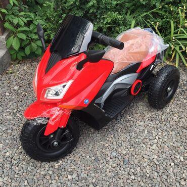 Детский электро-мотоцикл на резиновых колёсах. Рассчитан на возраст