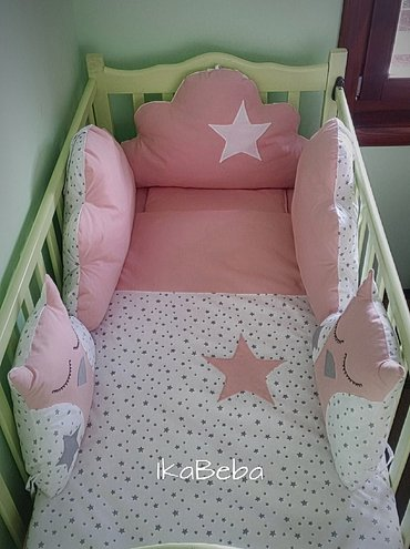 Posteljina za bebe, standardnih dimenzija 120X60. Komplet sadrzi