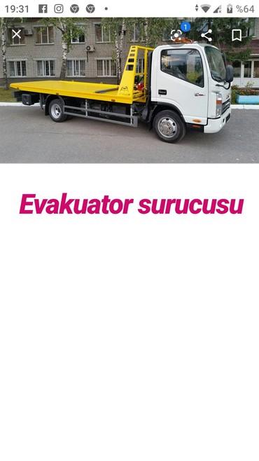 İş Xırdalanda: Tecili evakuator masini sure bilen suruculer teleb olunur emek haqqi
