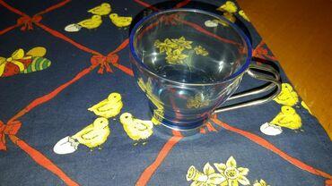 Kuhinjski setovi - Pozarevac: Neobične staklene šoljice sa metalnom ručicom.Ima ih 4 komada