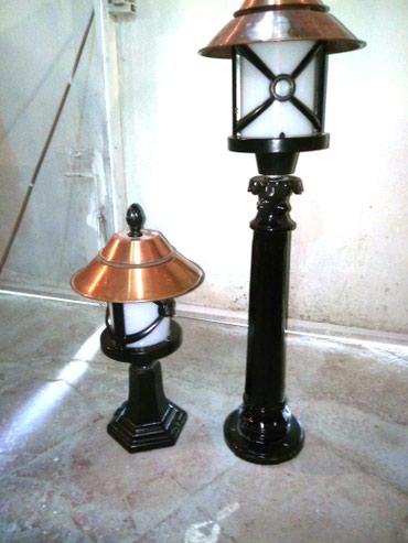 Bakı şəhərində Türkiyənin yerdən gecə lampaları. 2 əd böyük 3 əd balaca var.