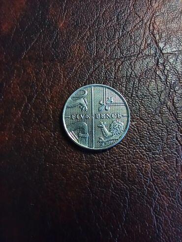 Kovanica 5 pence Velika Britanija