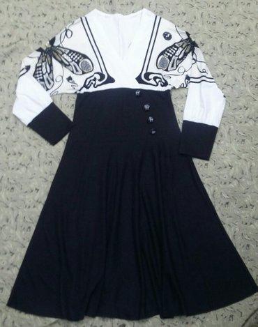 Платье трикотаж б/у в хорошем состоянии отлично сидит  размер 44-46