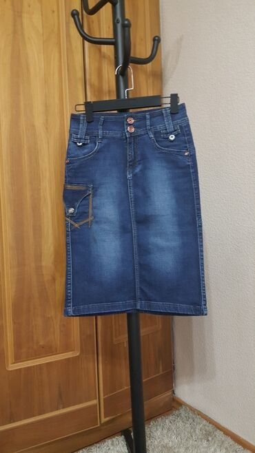 Юбка карандаш джинс новая размер М 42- 44-46 джинсовая