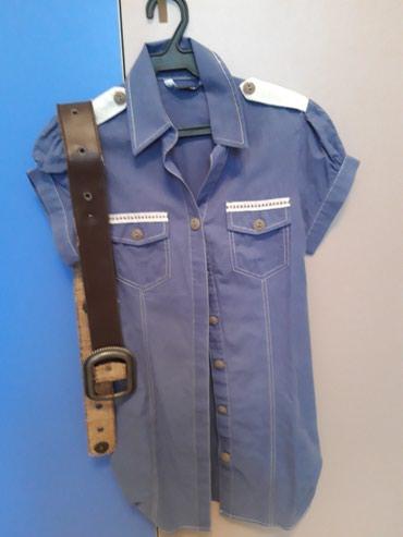 Турецкая рубашка-туника + ремень в Токмак