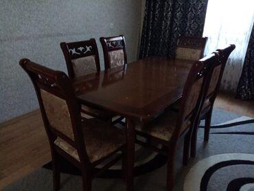 Yemək masası ve 6 stul satılır
