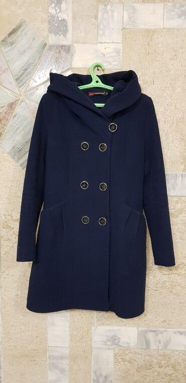 Пальто M размер 44-46 бренд veidiamond турция цвет темносиний цвет