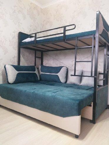 Двуспальные кровати в Кыргызстан: Продаю многофункциональную диван -кровать, 3местныйнижний можно
