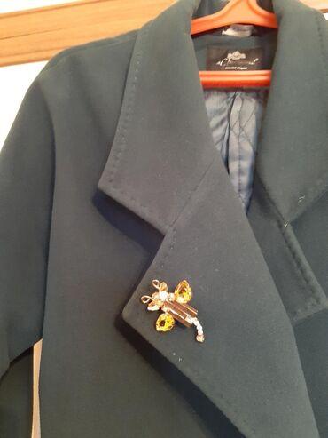 женские-пальто в Кыргызстан: Пальто женское с поясом, цвета хакки, торг уместен