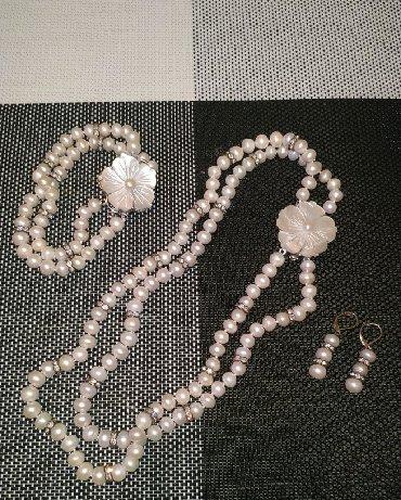 Шикарные сережки - Кыргызстан: Шикарный комплект- набор, колье, браслет,серёжки. Колье-24см. Всего за