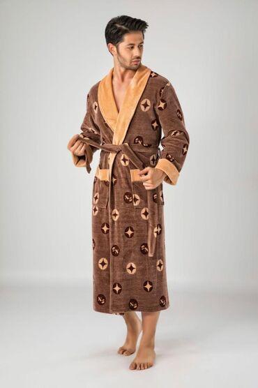 Шикарный махровый халат. Подстриженный верхний слой обеспечивает особу