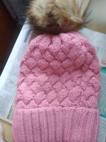 Продается теплая вязаная шапка цена 450 сом