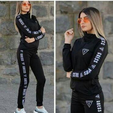 Ženska odeća   Sopot: Guess ženska trenerka koplet crna NOVO po magacinskoj ceni u slučaju