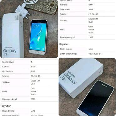 Samsung j - Azərbaycan: Samsung j3 2016 Yaddas 8 İdeal veziyyətdə Xanim işlədib çox