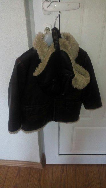 Dečije jakne i kaputi | Negotin: Za decaka jaknica sa kapom kozna veoma sacuvana broj 92