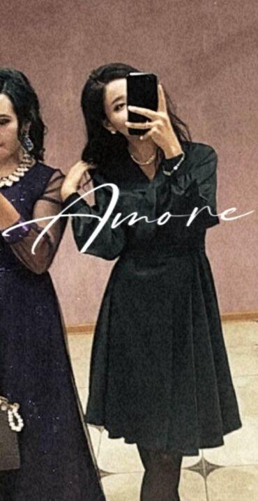 наволочки из атласа в Кыргызстан: Маленькое чёрное атласовое платье