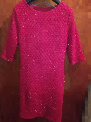 вечернее платье до колен в Кыргызстан: Женское платье ниже колен Цвет: бархатный блестящий Размер:46 Рукав: 3