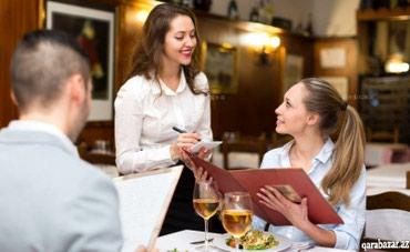 Bakıxanovda restorana ofsiantka tələb olunur.15 azn+%(günlük в Bakı
