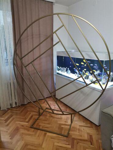 Ostalo - Beograd: Pozadina za dekoraciju, čelik sa zlatnom plastifikacijom.Posetite našu