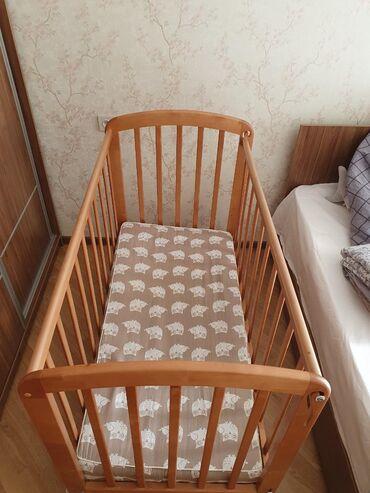 Детские кроватки в рассрочку - Кыргызстан: Кроватка детская пр-во Россия.   Матрас в подарок!   Покупали в Детско