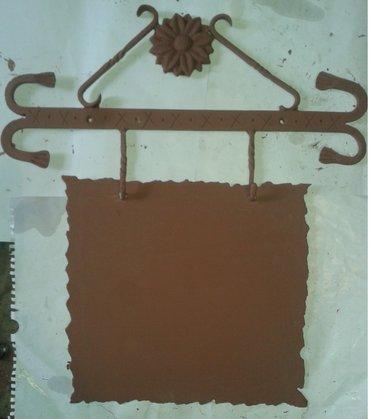 Tabla za kućni broj, kovana, tabla debljine 2mm x 300mm  x 300mm , sa - Nova Pazova