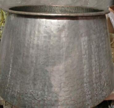 qaz plitəsi - Azərbaycan: Mis qazan, böyükdür, 15 kq düyü çıxardır