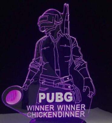 Lampa sa motivom iz igrice PUBG. Dostupne jednobojne (crvena, plava