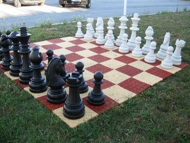 Шахматы - Азербайджан: Həyət və parkları üçün böyük plastik çöl şahmat daşları,Zərbələrə
