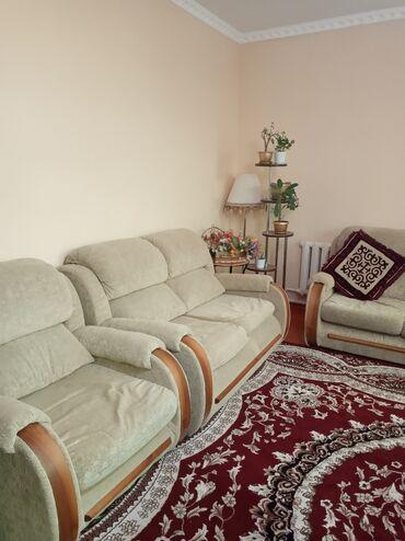 Диваны четверка ( трешка, двушка и два кресла), двушка расладывается