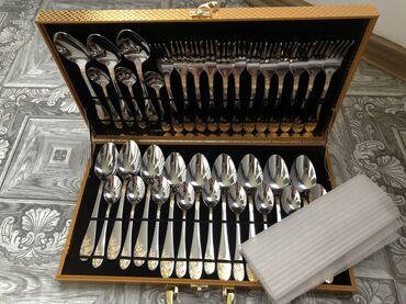 Коллекционные ложки - Кыргызстан: ПРОДАЮ Столовые приборы. Новые.  - 12 больших ложек  - 12 маленьких ло