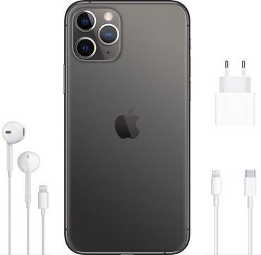 айфон 11 цена в оше in Кыргызстан | APPLE IPHONE: IPhone 11 Pro | 64 ГБ | Серый (Space Gray) Б/У | Отпечаток пальца, Беспроводная зарядка, Face ID