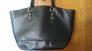 Torba-crna-kais - Srbija: Crna kozna torba. Malo nosena