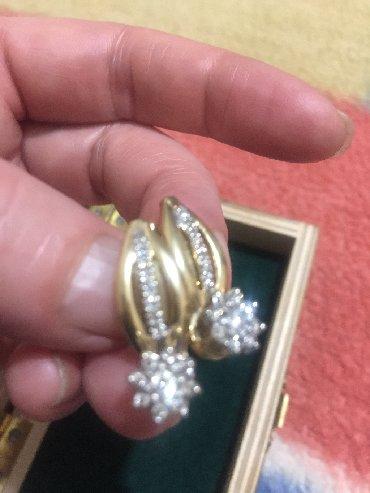 Украшения в Сокулук: Продаю шикарные серьги с бриллиантами . 585• 6грамм, желтое золото. 32