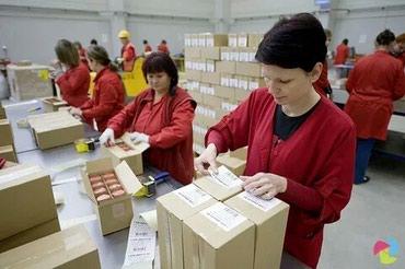 Требуются упаковщики: с знанием русского языка,  можно без опыта в Бишкек