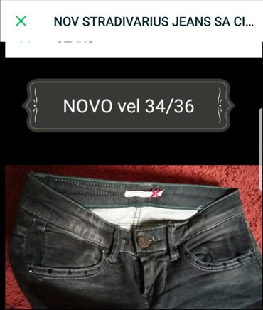 Jeans NOVO STRADIVARIUS SA CIRKONIMA ima elastina.. 34/36 br cena - Trstenik