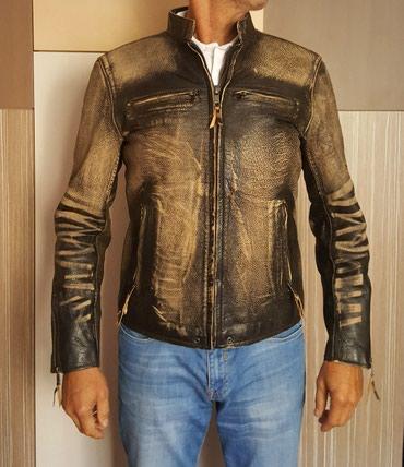 Muška kožna jakna NOVO koža bizona, postavljena XL veličina - Belgrade