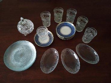 вилмакс посуда в Азербайджан: Продаются 6 стаканов, 6 блюдец, 6 десертных тарелок, 3 лемонницы, 1