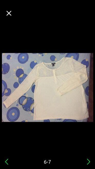 Bluza sa rukav - Srbija: HM bluzica sa cipkanim rukavima, L velicina. Lepo ocuvana