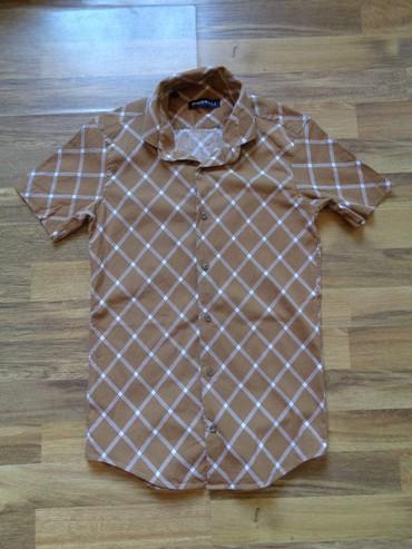 детская джинсовая рубашка в Азербайджан: Рубашка для мальчики 10-12 лет  Одевали пару раз  Хлопок/стрейдж