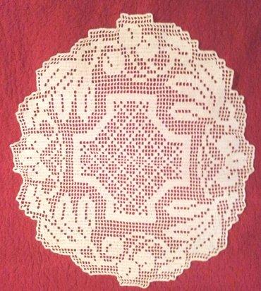 Beli radni mantili - Srbija: Stolnjak milje ručni rad 9ručni rad. Veličina: 59 x 53 cmnekorišćeno