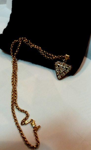 bmw-7-серия-728il-at - Azərbaycan: Золотой кулон с бриллиантами. Золото 750 пробы . Вес 2.8 гр