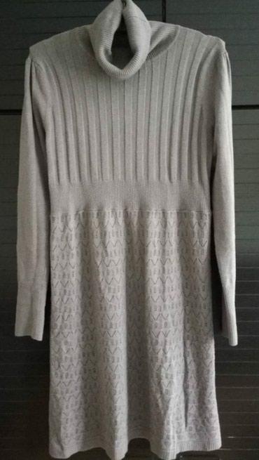 AKCIJA!!! siva haljina sa rolkom, trikotaza, duzina 95cm, obim 96cm, - Belgrade
